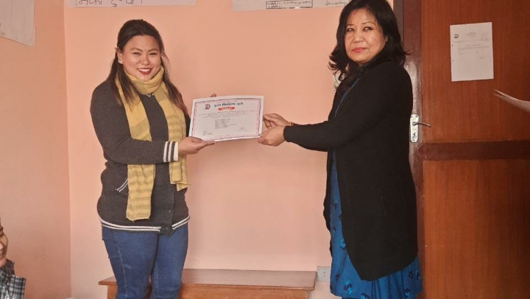 Bimala completes her counselling course.